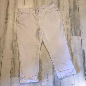 White Capri jeans size 16